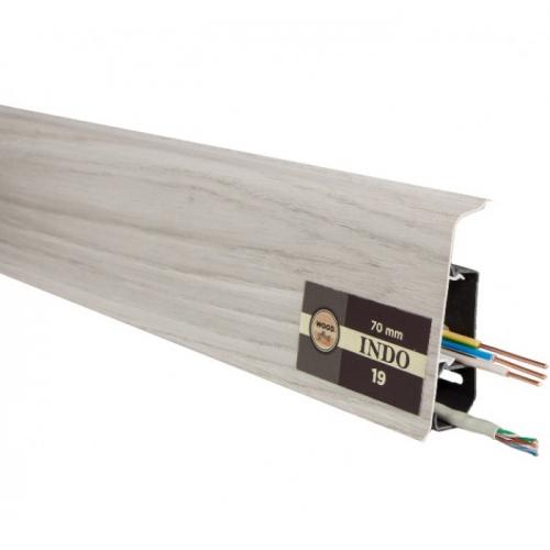 Пластиковый плинтус Indo (Индо) LM-70 Дуб Онтарио 19
