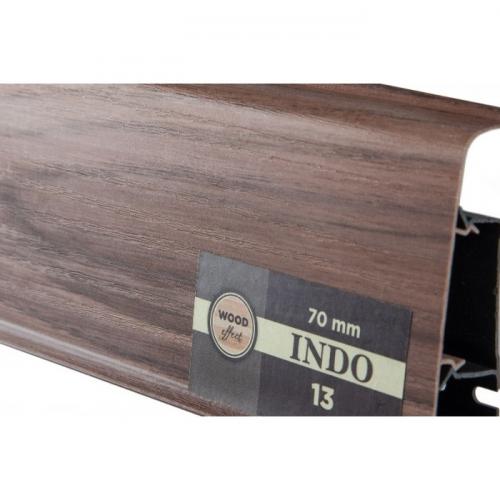 Пластиковый плинтус Indo (Индо) LM-70 Красный орех 13
