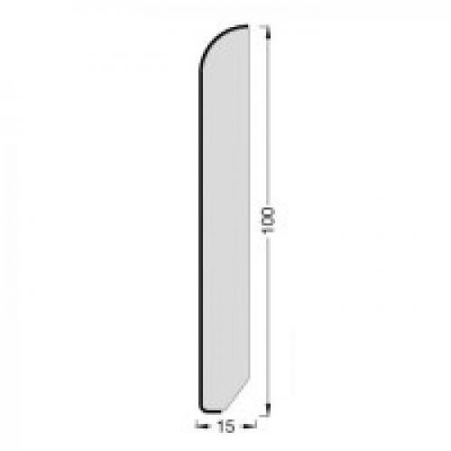 Плинтус шпонированный Tecnorivest (Техноривест) Дуб белый затертый 2500x100x15 мм