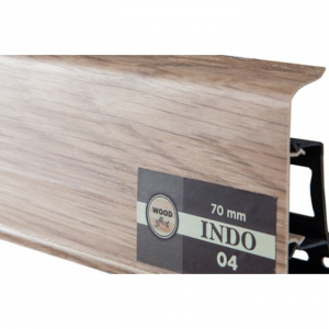 Пластиковый плинтус Indo (Индо) LM-70 Дуб Лингбург 04