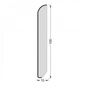 Плинтус шпонированный Tecnorivest (Техноривест) Дуб Сахара 2500x100x15 мм